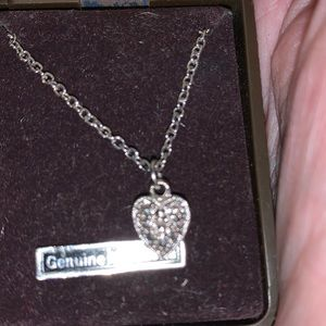 """Heart Shaped Marcasite Pendant on 18"""" Silver Chain"""